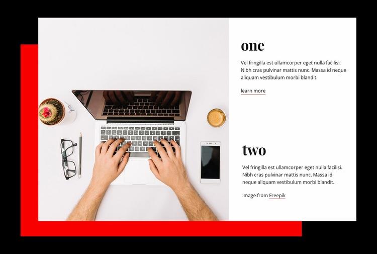 Innovate, ignite, inspire Web Page Design