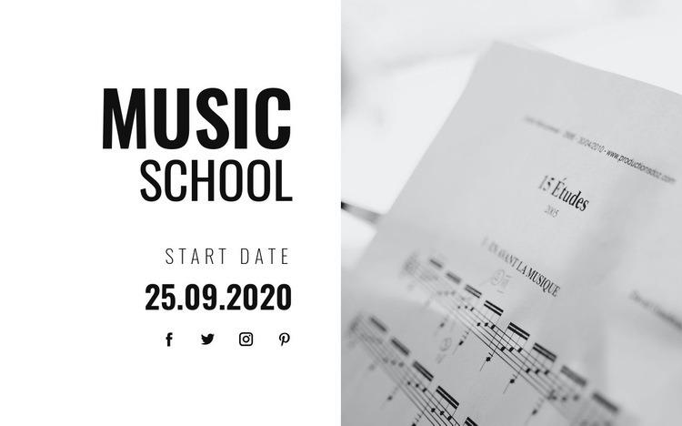 Musical education Web Page Designer