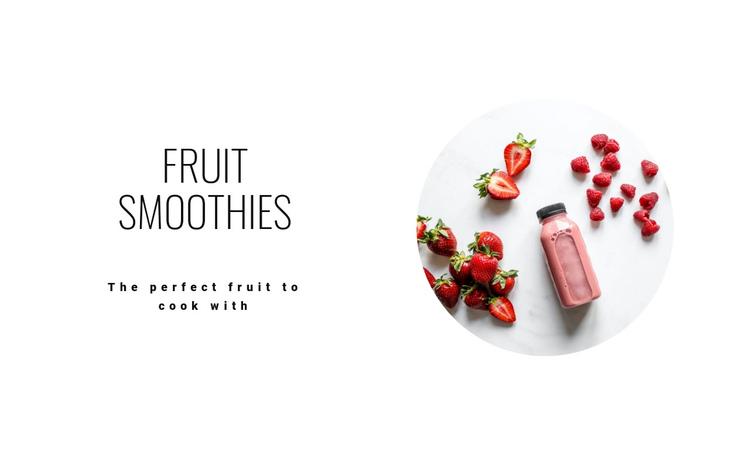 Healthy fruit smoothies Website Builder Software