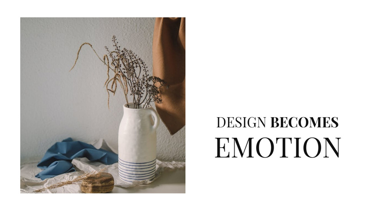 Stylish vases in the interior Website Builder Software