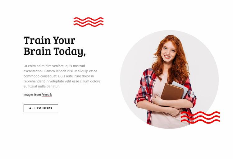 Train your brain Website Mockup