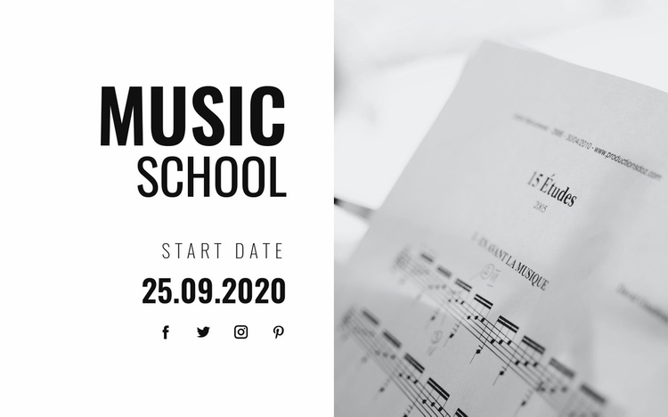 Musical education Landing Page