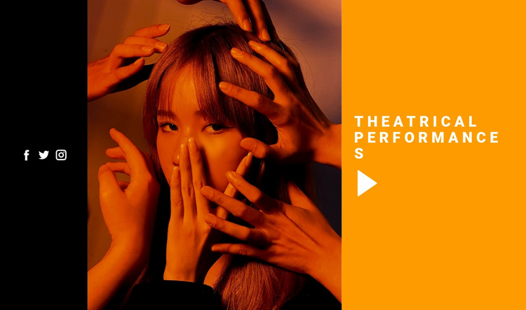 Theatrical performances Website Template