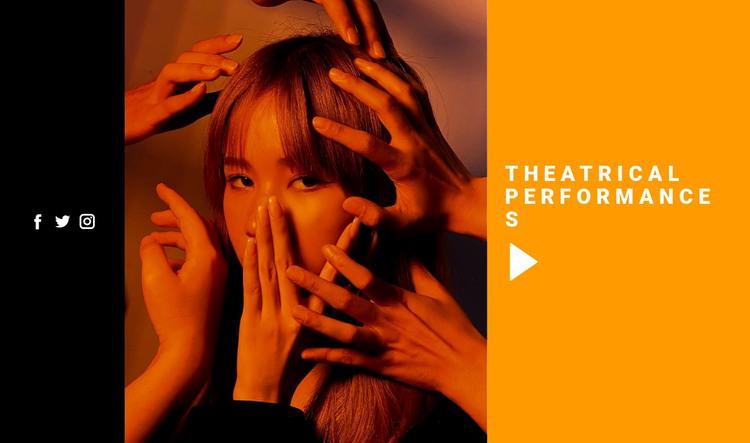 Theatrical performances WordPress Theme