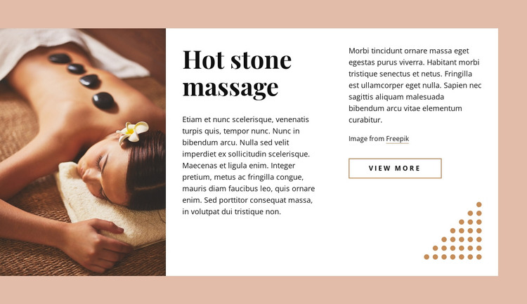 Practice of stone therapy HTML Template