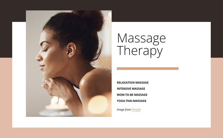 Benefits of massage HTML5 Template
