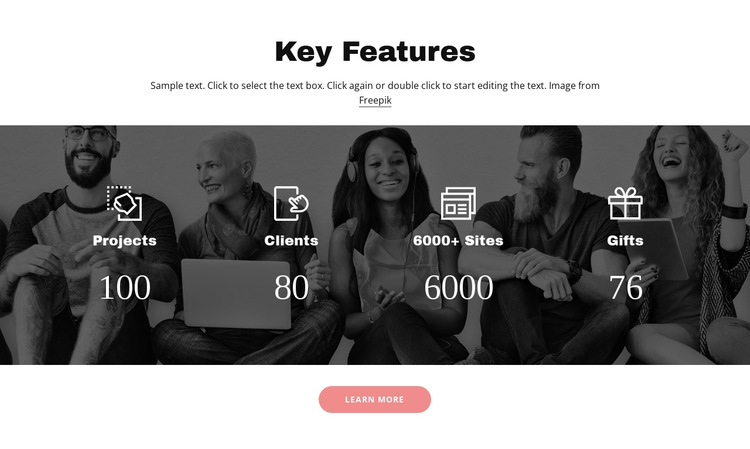 Important features HTML5 Template