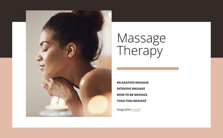 Benefits of massage Web Page Design