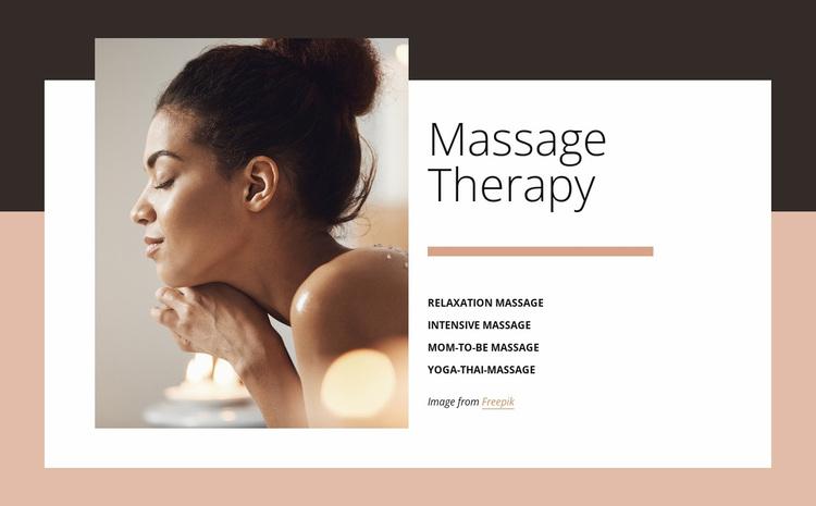 Benefits of massage Website Design
