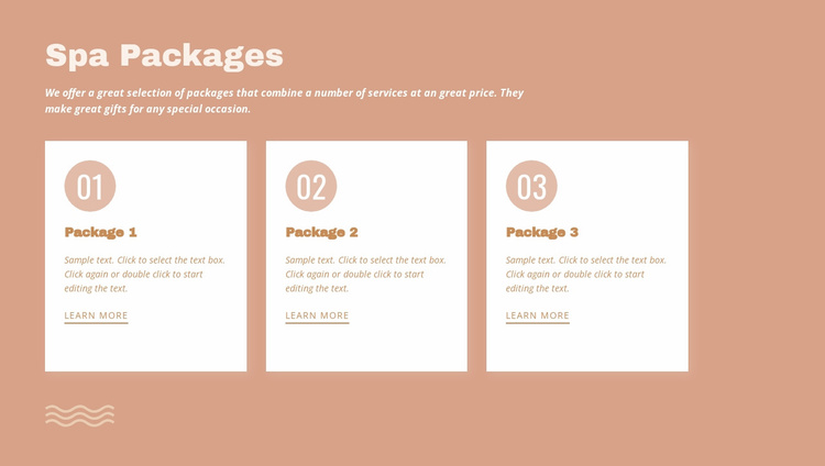 Spa packages Website Template
