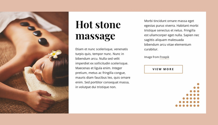 Practice of stone therapy Website Template