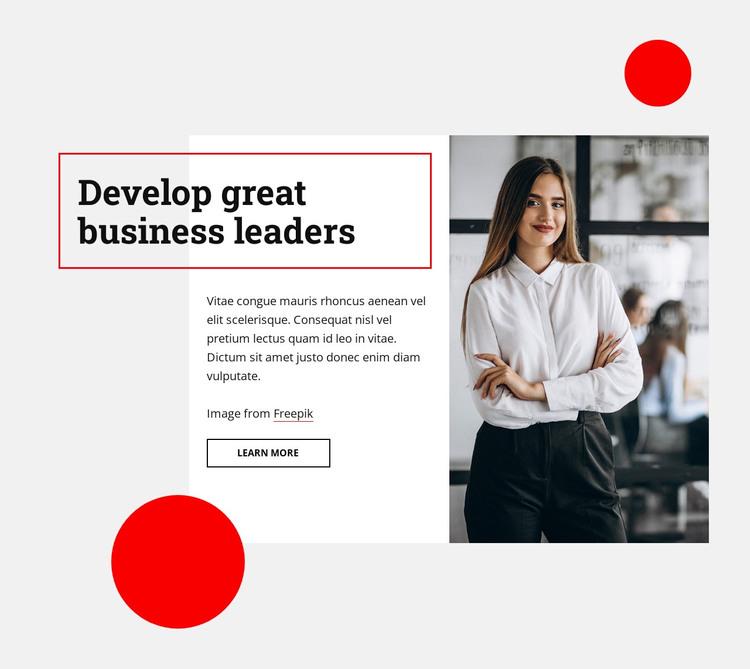 Develop great business leaders WordPress Theme