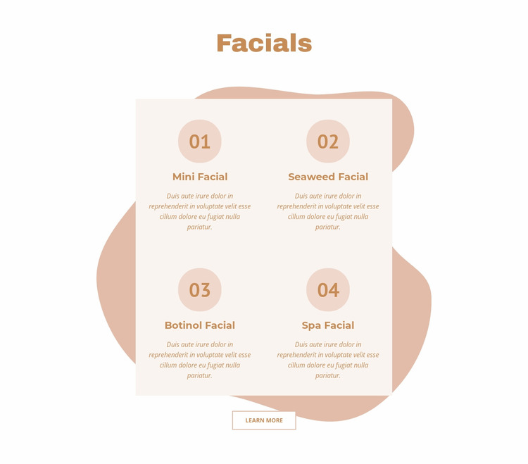 Facials WordPress Website Builder