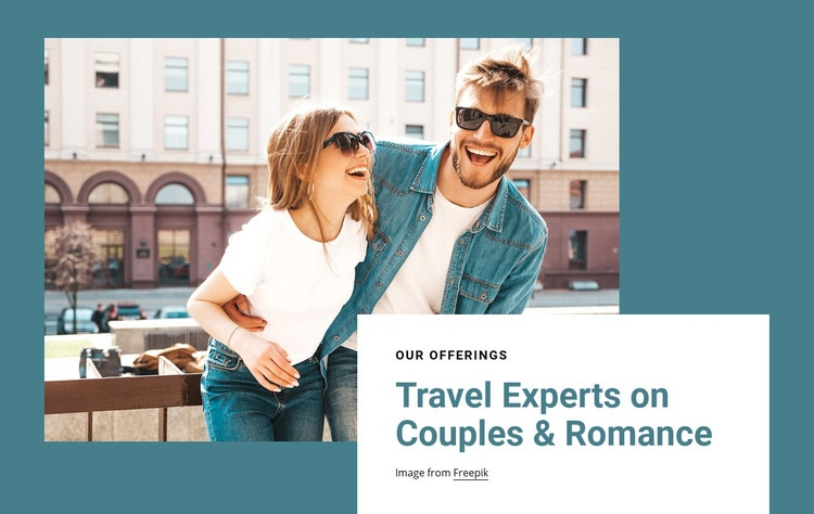 Travel experts on romance Homepage Design