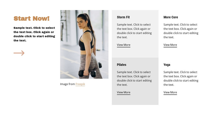 Running, cycling, gym HTML Template