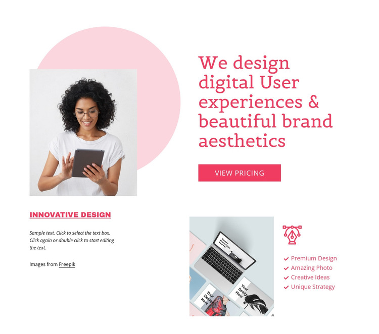 Digital user experience HTML Template