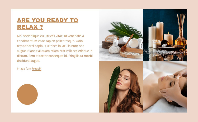 Spa relax packages HTML Template