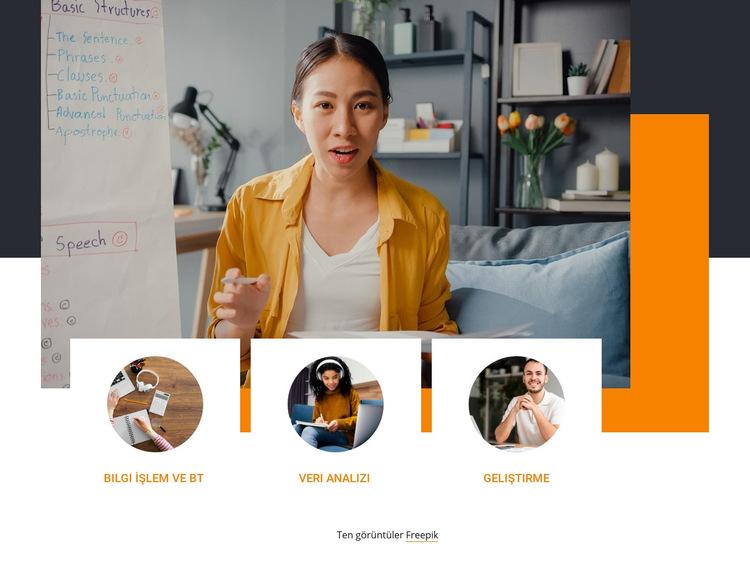 dönüşüm eğitimi Web Sitesi Şablonu