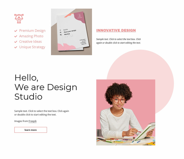 We are design studio Website Template