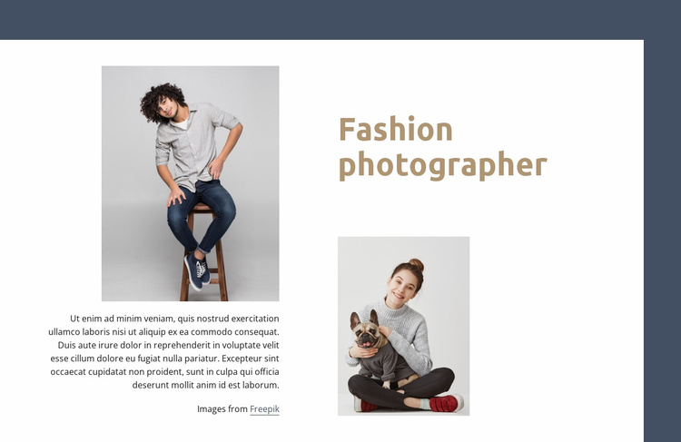 Fashion and lifestyle photographer Website Template
