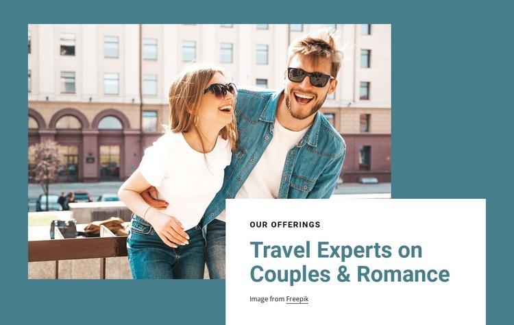 Travel experts on romance WordPress Website