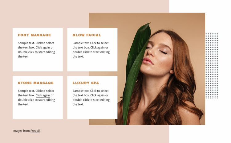 Stone and foot massage Website Template