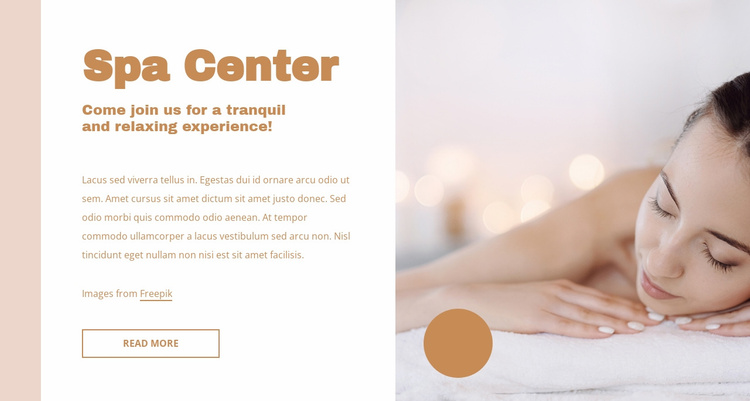 Perfect facial treatments Website Template