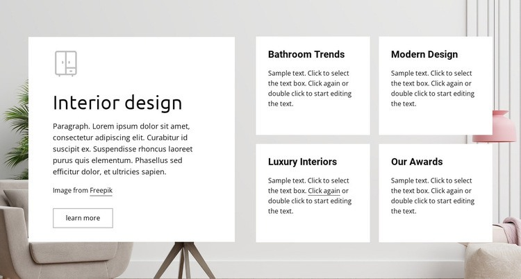 Luxury interiors Html Code Example