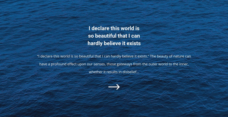 Seascapes HTML5 Template