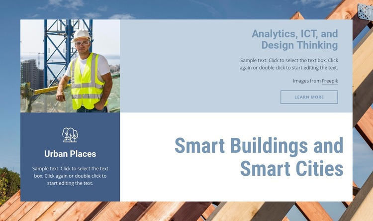 Smart buildings and cities Web Page Design