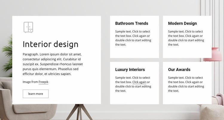 Luxury interiors Web Page Design