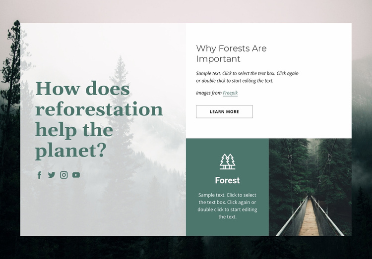 Importance of forests Website Template