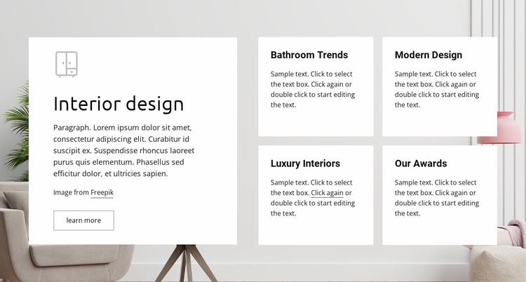 Luxury interiors Landing Page