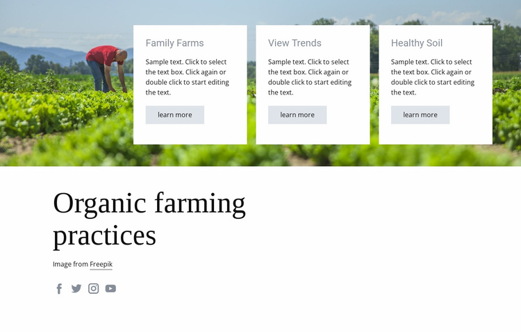 Organic farming practices Website Template