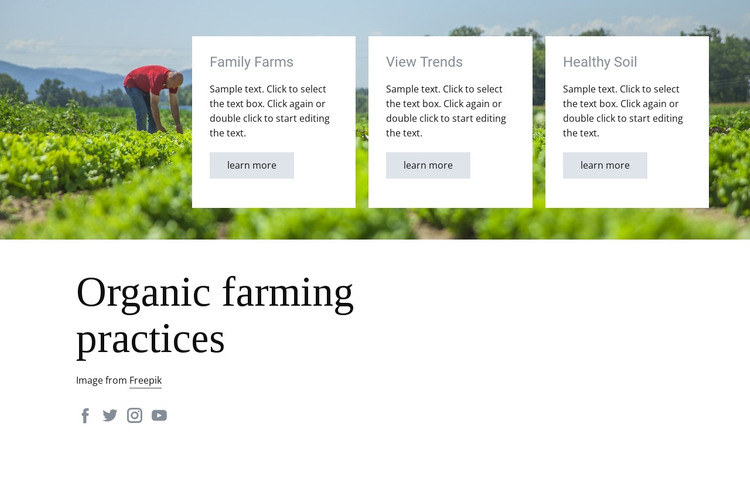 Organic farming practices WordPress Theme