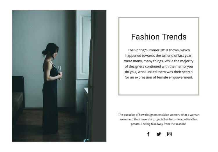 Collection of evening dresses HTML Template