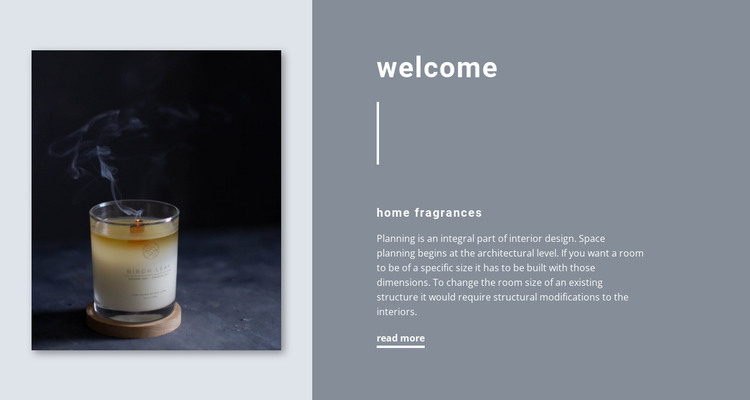 Home fragrances HTML Template