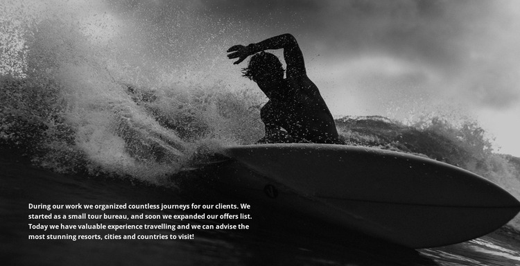 Conquering the waves Html Website Builder