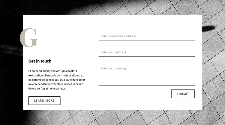 Contact us for consultation One Page Template