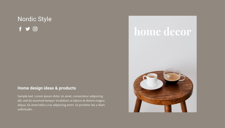 Home decoration assistance Website Template