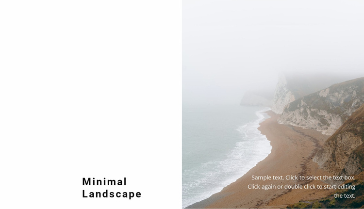 Foggy landscapes of the north Website Template