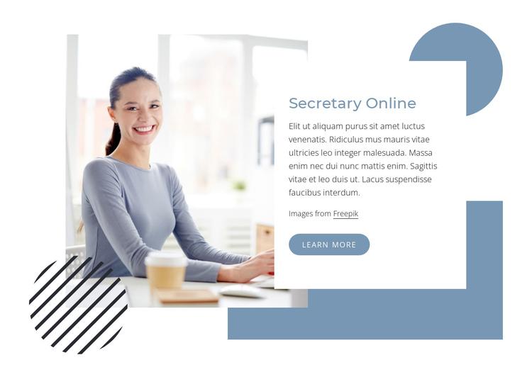 Secretary online Website Builder Software