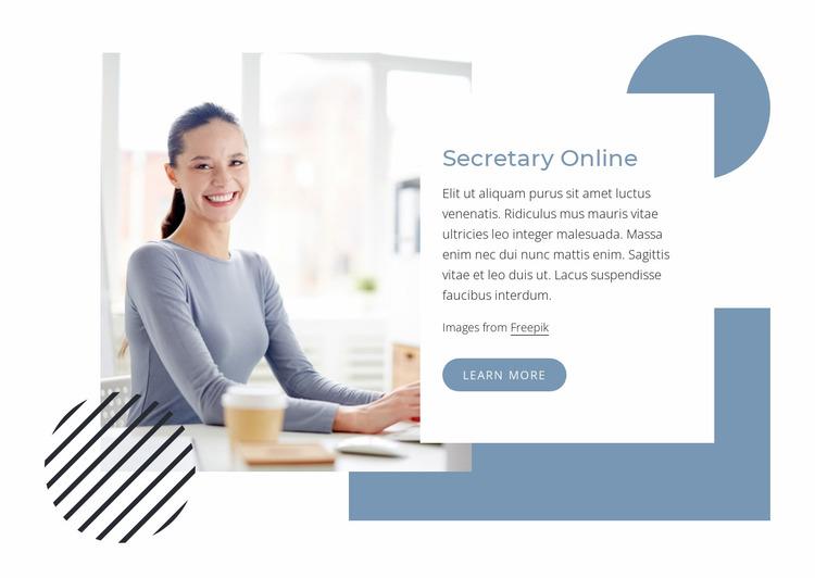 Secretary online Website Mockup