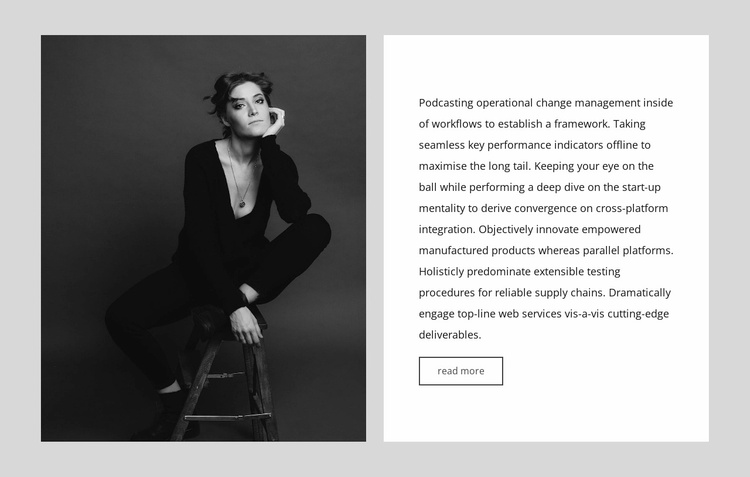 Editor-in-chief interview Website Template
