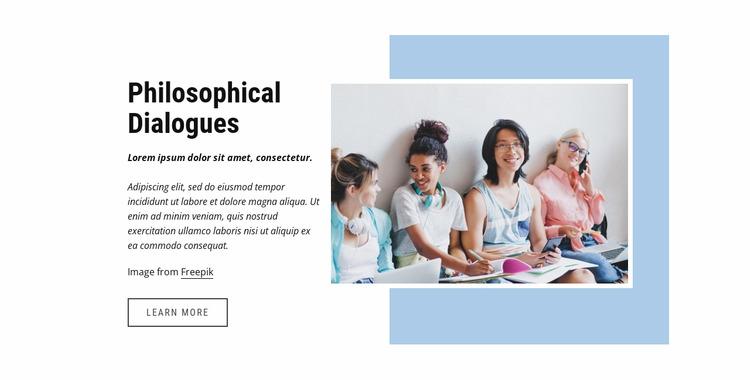 Philosophical dialogues Html Website Builder