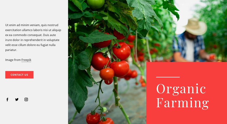 Organic farming principles Website Builder Software