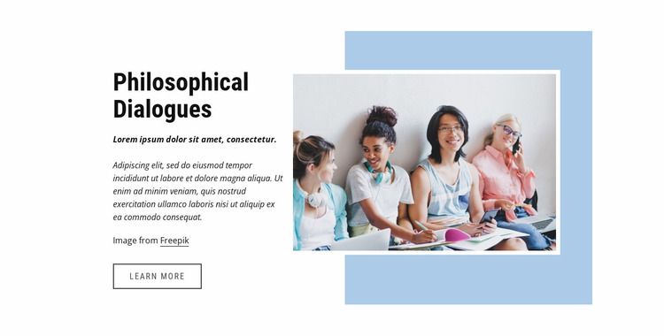 Philosophical dialogues Website Mockup