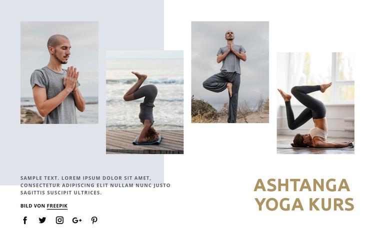 Ashtanga Yoga Kurs Website-Vorlage