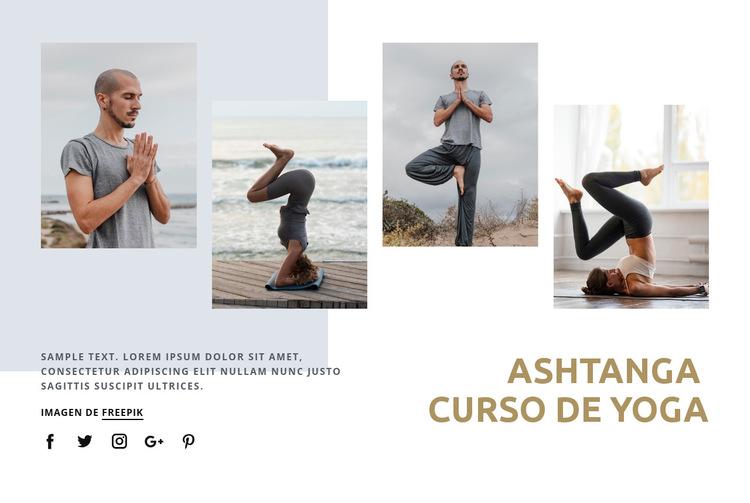 Curso de Ashtanga yoga Plantilla de sitio web