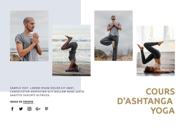 Cours de yoga Ashtanga Modèle de site Web